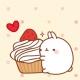 CUKI폰꾸미기 몰랑이의 딸기케이크